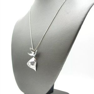Jewelry - 925 silver necklace abstract twist